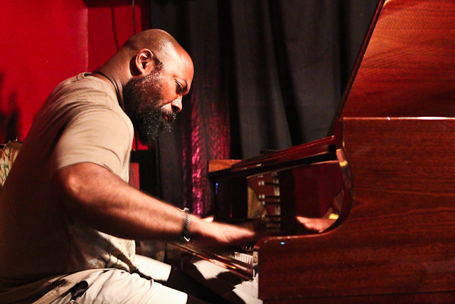 Allyn Johnson on piano with the Bruce Williams Quintet at Twins Jazz