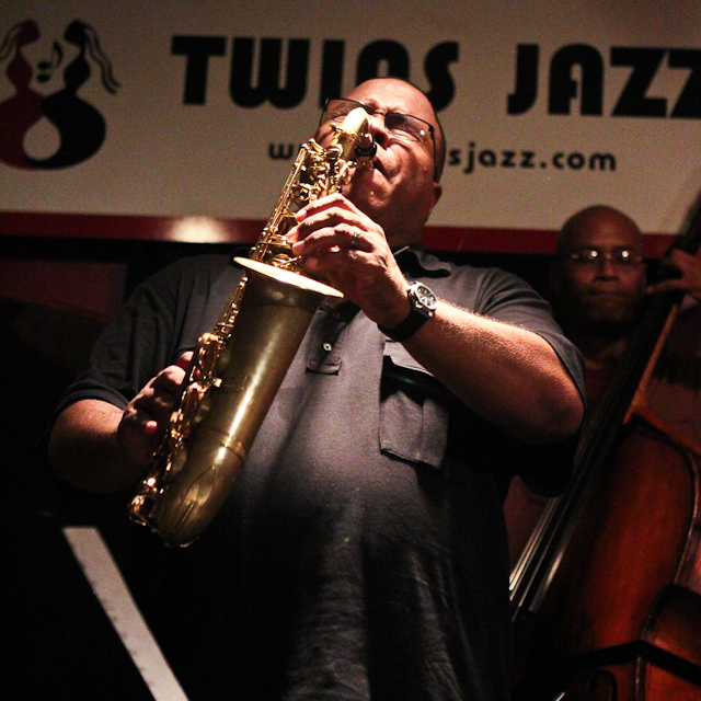 Bruce Williams on saxophone with the Bruce Williams Quintet at Twins Jazz