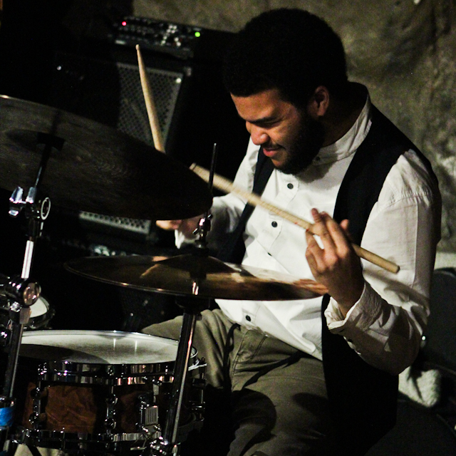 Kush Abadey, drums with Donvonte McCoy and Joyful Noise at Bohemian Caverns