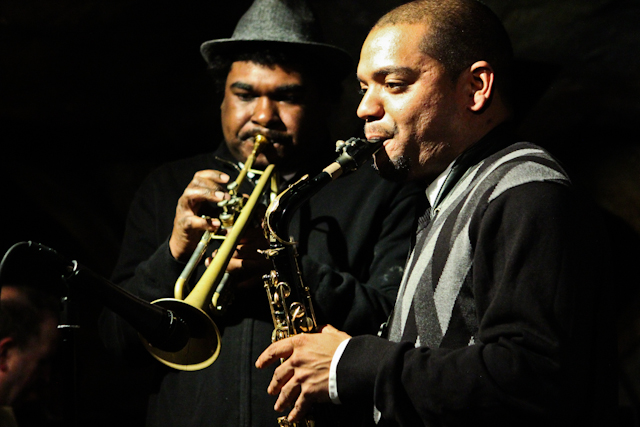 Herb Scott, saxophone and Donvonte McCoy, trumpet with Donvonte McCoy and Joyful Noise at Bohemian Caverns