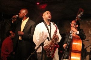 Kiyem Ade, vocals, Ron Sutton Jr., saxophone, Vince Evans, piano, and Michael Bowie, bass
