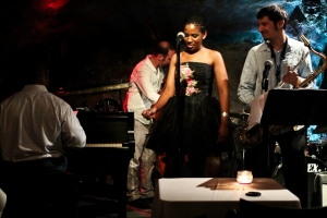 Integriti Reeves, vocals, Elijah Balbed, saxophone, Jeff Reed, bass, and Warren Wolf, piano