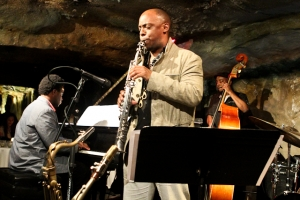 Marcus Strickland, saxophone, David Bryant, piano and Ameen Saleem, bass