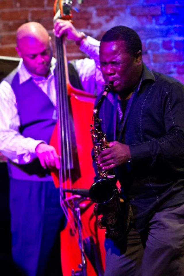Antonio Parker, saxophone with Russell Sledge, bass