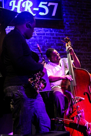 Antonio Parker, saxophone and Cheney Thomas, bass