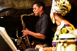 Lyle Link, saxophone with Akua Allrich