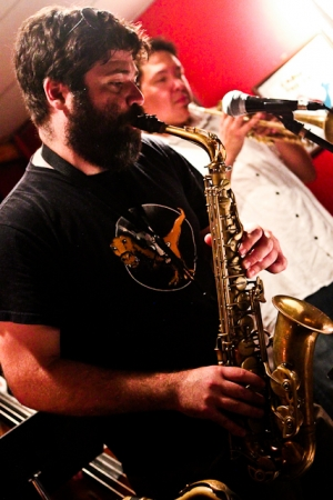 Bobby Muncy, saxophone with Joe Herrera, trumpet