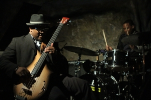 Tarus Mateen, bass and Quincy Phillips, drums