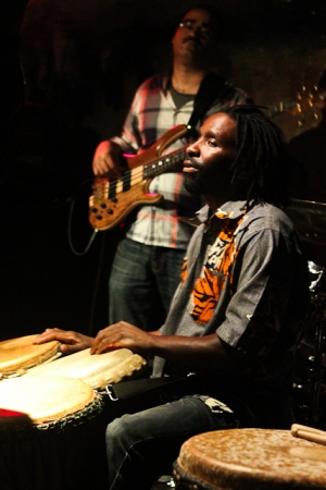 Mahiri Fadjimba Keita, drums and David White, bass