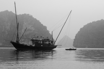 Boats on Halong Bay