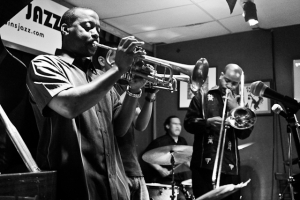 Kenny Rittenhouse, trumpet with Norberto Mejicanos, trumpet, JC Jefferson Jr, drums and Reginald Cyntje, trombone