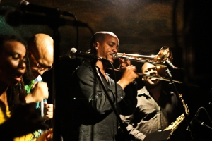 Reginald Cyntje. trombone with Antonio Parker, Michelle Chatman, and Lasana