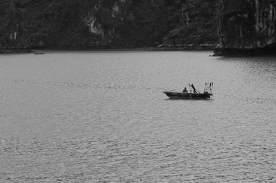 Crossing Halong Bay