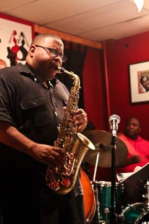 Bruce Williams, saxophone with Howard Franklin, drums