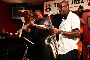 Paul Carr, saxophone, Bruce Williams, saxophone, Allyn Johnson, piano and Herman Burney, bass