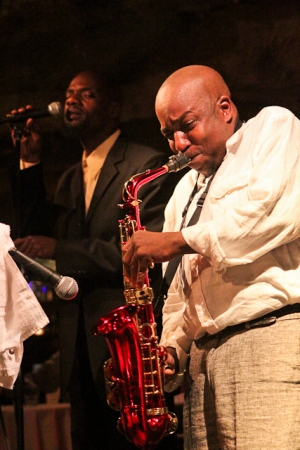 Kiyem Ade, vocals and Ron Sutton Jr., saxophone