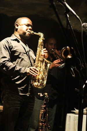 Antonio Parker, saxophone and Reginald Cyntje, trombone