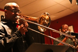 Reginald Cyntje, trombone and Kenny Rittenhouse, trumpet