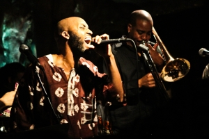 Ka'Ba Akintunde, vocals and Reginald Cyntje, trombone