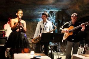 Integriti Reeves, vocals, Elijah Balbed, saxophone, Matvei Sigalov, guitar, and Jeff Reed, bass