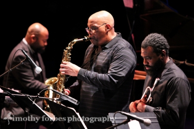 Joe Ford, saxophone with John Williams, trumpet and Allyn Johnson, piano
