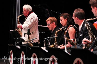 Lee Konitz, saxophone with the Brad Linde Expanded Ensemble
