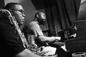 Allyn Johnson, piano with Bruce Williams pausing on saxophone