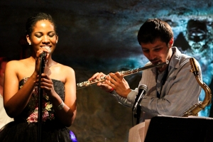 Integriti Reeves, vocals and Elijah Balbed, flute