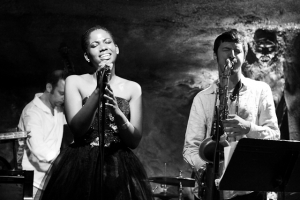 Integriti Reeves, vocals, Elijah Balbed, saxophone and Jeff Reed, bass
